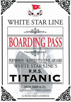 Ticket for Titanic 1912