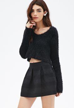 Box-Pleated Mini Skirt