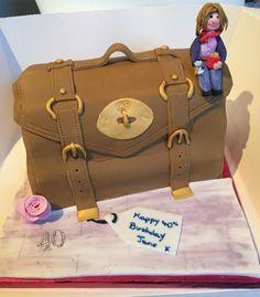 Mulberry bag 40th birthday cake