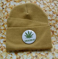 Legalize It Pin Beanie. $20.00, via Etsy.