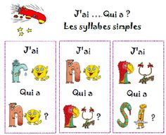 lecture de syllabes - jeu collectif - Nurvero - La vie en classe Grade 1 Reading, Ontario Curriculum, Core French, French Immersion, Phonemic Awareness, Teaching French, Letter Sounds, Teacher Hacks, Interactive Notebooks