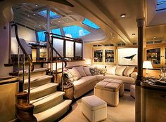 Private yacht charters are becoming increasingly popular for intimate and flexible vacations. The private yacht charter allows you the freed. Yacht Luxury, Luxury Yacht Interior, Boat Interior, Luxury Cars, Interior Design, Private Jet Interior, Interior Ideas, Yacht Design, Burgess Yachts