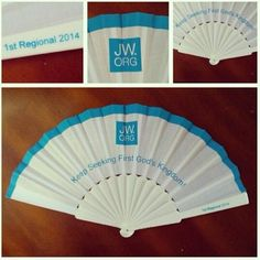 Fan with JW.org logo for International Convention