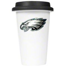 Philadelphia Eagles Double Wall Ceramic Cup with Lid $10.97 http://store.philadelphiaeagles.com/Philadelphia-Eagles-Double-Wall-Ceramic-Cup-with-Lid-_-1008134905_PD.html?social=pinterest_pfid37-01872