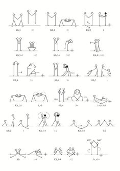 Exercises in pairs Kids Gym, Yoga For Kids, Exercise For Kids, Gross Motor Activities, Indoor Activities, Yoga Stick Figures, Pe Ideas, Volleyball Workouts, Acrobatic Gymnastics