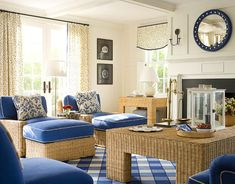 "While this is labelled ""Nantucket Cottage"", it looks like a perfect Florida room.  Wicker doesn't mean ""spindly"" or ""delicate"".  My sun room features this type of wicker and I love it.  (I'm prejudiced!)"