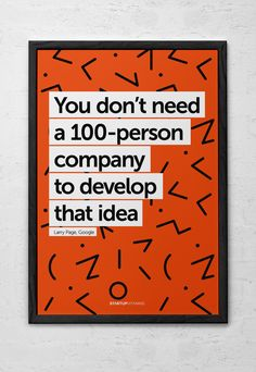 Startup Vitamins makes posters with quotes and tips to keep your startup motivated.Their posters can be found around the world in awesome offices like Zappos, Path, Google, Twitter and LinkedIn.After a winning contest, I was asked to design new posters…
