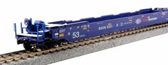 Kato HO Scale Pacer Gunderson MAXI-IV 3 unit Well Car Set 309039 #Kato