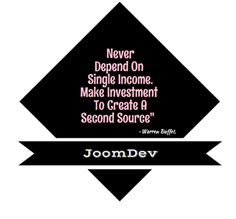 """""""Never Depend upon a single source of Income. Make investments to create a second source"""" #MondayMotivation #HappyMonday #SocialMedia #Joomdev"""