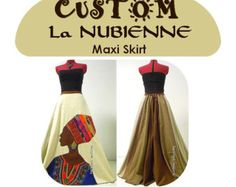 La Nubienne - Long Tribal Hippie skirt, African Patchwork Boho skirt, Ooak Appliqued Ethnic skirt, Can fit S to XL Tribal Skirts, Hippie Skirts, Boho Skirts, African Women, African Fashion, African Dress, African Wear, African Style, Bohemian Gown