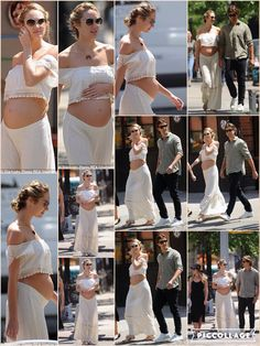 As a mother-to-be, there comes a point when your clothes simply don't fit anymore. But Candice Swanepoel found the perfect solution on Friday - digging out an outfit that was utterly unaffected by her growing bump. Rather than roomy maternity wear, the 27-year-old showed off her pregnant figure in an all white outfit of a short crop top and a matching sheer maxi skirt.