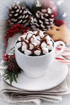 Image about winter in ❤Cups❤Coffee❤Tea by Cristela - Weihnachten - Hot Chocalate Coffee Gif, Coffee Love, Best Coffee, Coffee Break, Good Morning Coffee, Good Morning Gif, Morning Morning, Mini Desserts, Cafe Rico