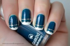 Blue and gold french