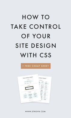 An Intro to CSS for Bloggers | CSS cheat sheet | coding for beginners | web design resources | blogging for beginners