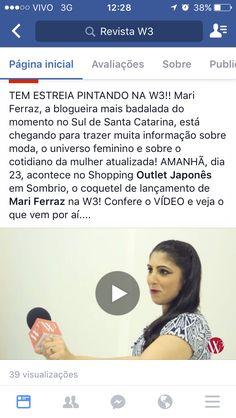Confere lá o novo vídeo na Fanpage.  Facebook.com/MariFerraznoface