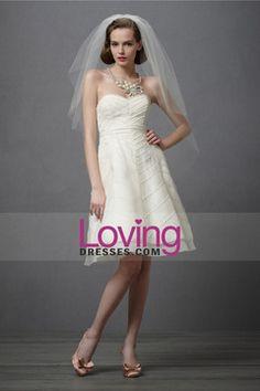 2013 Wedding Dresses A Line Sweetheart Knee Length  Organza USD 149.99 LDP7CG984M - LovingDresses.com