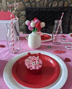 """NJ Kids' Party Planner on Instagram: """"Valentine's Day is here and I wanted to share with you this really cool Monster Love themed play date. Let me know your thoughts! cupcakes…"""" Kids Party Planner, Cool Monsters, Affair, Valentines Day, Cupcakes, Thoughts, Play, Cool Stuff, Desserts"""
