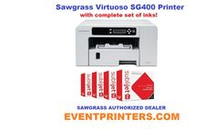 SAWGRASS VIRTUOSO SG400 sublimation printer, with complete set of Sawgrass inks.