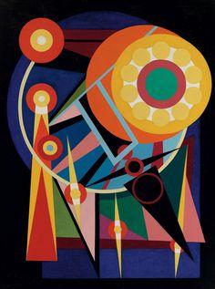 Auguste Herbin (1882-1960) Le soileil et les planètes (1941) oil on canvas 130.1 x 96.8 cm