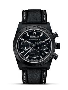 Tudor Black Shield Swiss Watch