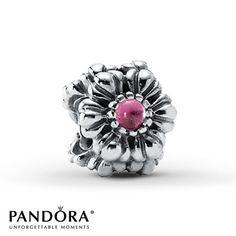 Pandora Bloom Charm October Pink Opal Sterling Silver