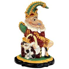 Antique Staffordshire Pottery Figure Of Punch Court Jester, Punch And Judy, English Pottery, Antique Pottery, Vintage Models, Covent Garden, Clowns, Victorian Era, Ceramic Art