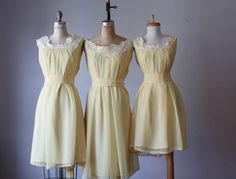 Andy of these three mismatched bridesmaid dresses  / Romantic /  lace    / dresses /Fairy / Dreamy / Bridesmaid / Party / wedding / Bride /
