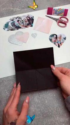 Cute Paper Card DIY  <br> Diy Gifts Videos, Easy Diy Gifts, Diy Crafts For Gifts, Creative Crafts, Kids Crafts, Cool Paper Crafts, Paper Crafts Origami, Origami Paper, Diy Paper