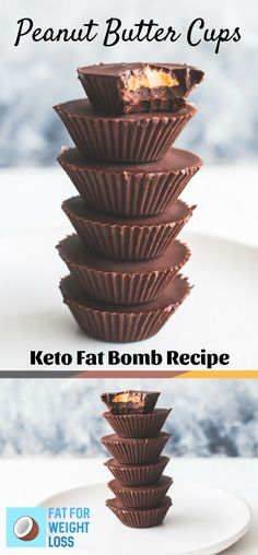 Keto Peanut Butter Cups - Chocolate Fat Bomb Recipe - FatForWeightLoss