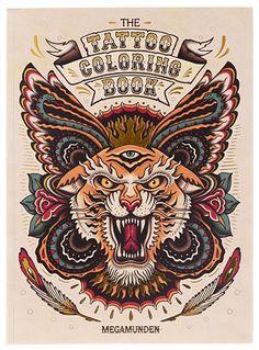 Retro Tattoo Coloring Book