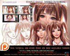 simple smile tutorial pack.promo. by sakimichan