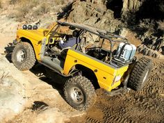 1972 Ford Bronco yellow
