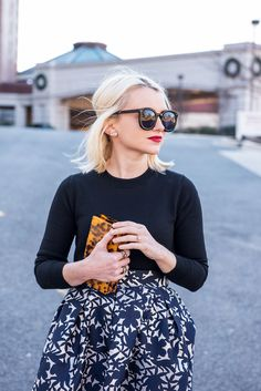 Cathy of Poor Little It Girl shares how to style a bold printed midi skirt in her latest outfit post!