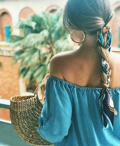 Trança com lenço @street_style_corner #trancas #tranças #braids #braidstyles #penteados #hair #penteado #cabelo #hairstyle #GostoDisto