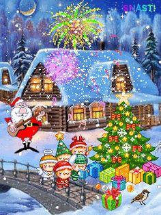 Wallpapers de Navidad con movimiento para celulares