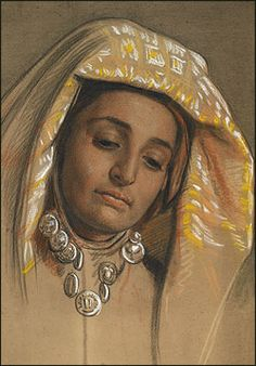 Study for Nimji. William Holman Hunt.
