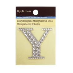 Bling Monogram By Recollections™ | Alphabet Y | Michaels® #alphabet #bling #michaels #Michaelsreg #monogram #recollections #Recollectionstrade #trade Diy Birthday Banner, Art Birthday, Birthday Party Themes, Birthday Invitations, Diy Monogram, Favor Bags, Tote Bags, Initials, Alphabet