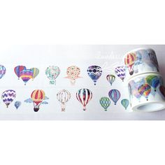 Hot Air Balloon Washi Tape 184209 by iluvdesign on Etsy
