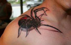 3d Black Widow Tattoos