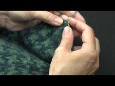 Strik kant på sjal - YouTube