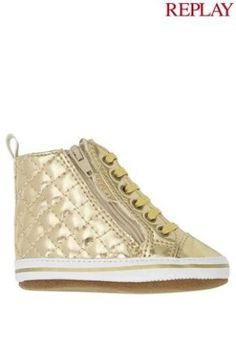 Replay® Gold Crib Shoe (0-12mths) from Next
