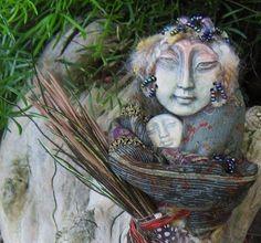 Handmade, Isis Moon Goddess, Healer Reiki Spirit Art Doll ooak. $75.00, via Etsy.