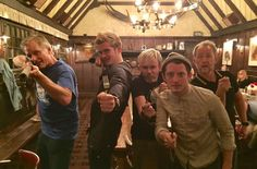 The cast of The Lord of the Rings off set