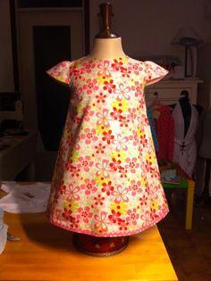 abitino bambina stampa floreale in puro cotone