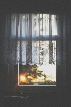 gorgeous morning light through window