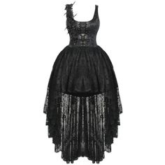PUNK RAVE GARDENIA PROM DRESS ❤ liked on Polyvore