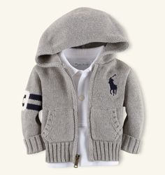 Hooded Full-Zip Cardigan - Ralph Lauren baby