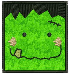 AKDesigns Boutique Machine Embroidery - No 117 Franky Applique Frankenstein Halloween Machine Embroidery Designs, $4.80 (http://www.akdesignsboutique.com/no-117-franky-applique-frankenstein-halloween-machine-embroidery-designs/)
