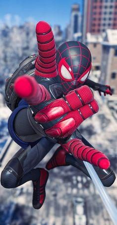 Miles Spiderman, Miles Morales Spiderman, Black Spiderman, Spiderman Movie, Amazing Spiderman, Iron Man Avengers, Avengers Art, Marvel Art, Marvel Heroes