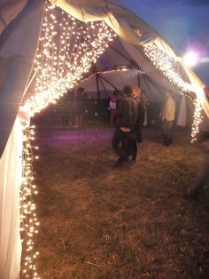 Secret Garden Party 2010- Fairy Lights entrance by helenthedestroyer, via Flickr